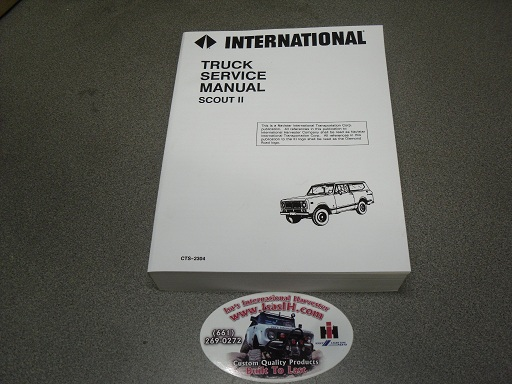Service Manual, Scout II 1971-1975
