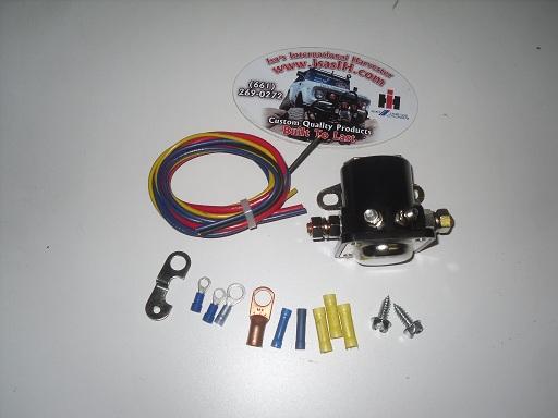 Isa's International Harvester: Remote Starter Solenoid, Hot-Start, Kit